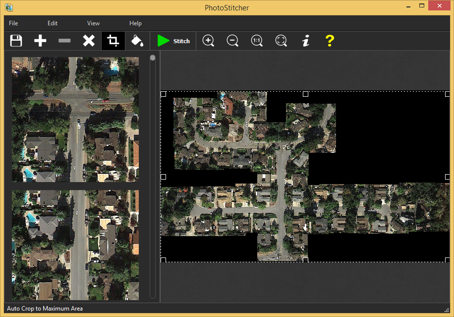 How to automatically stitch satellite images - fast and easy