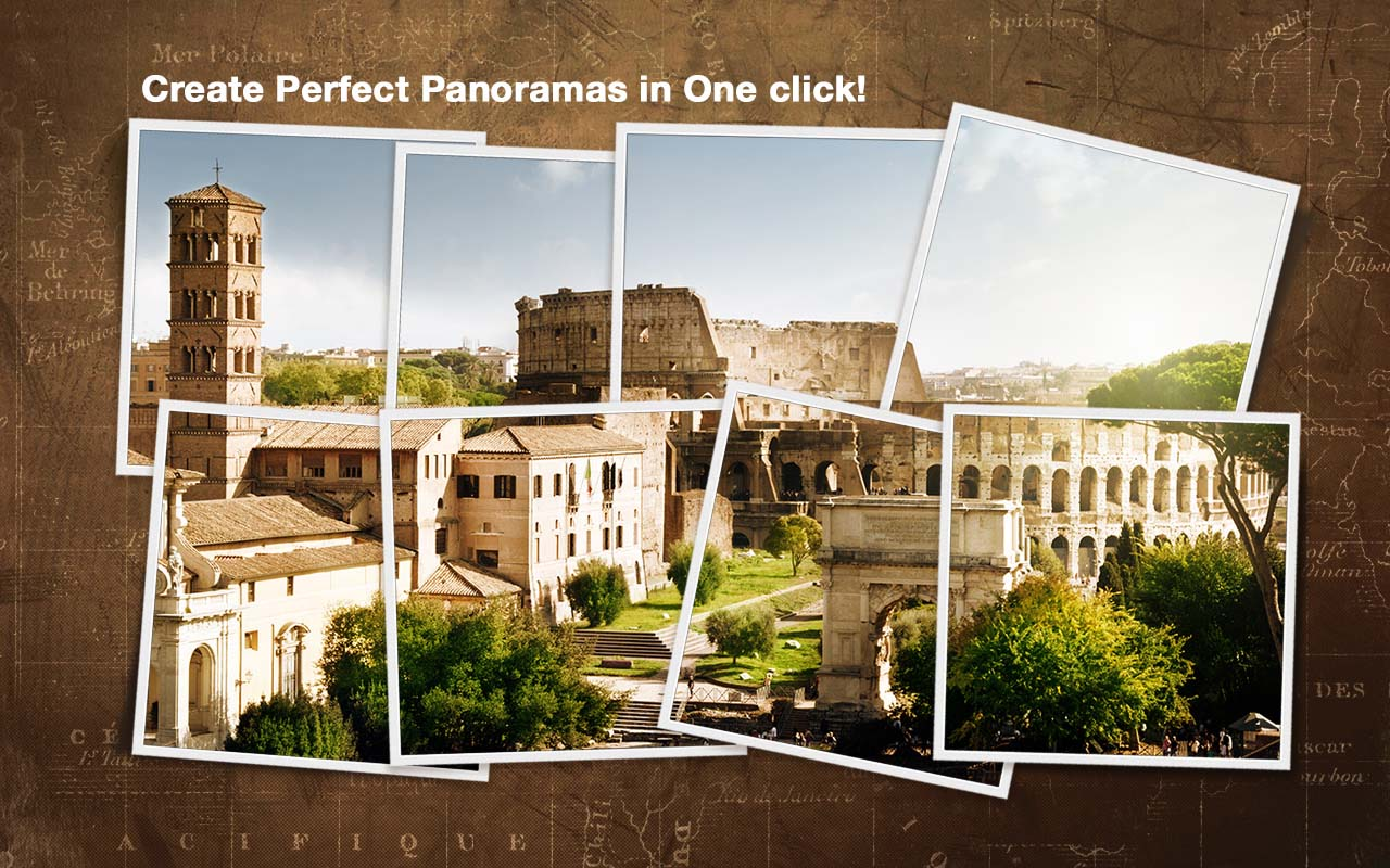 Create perfect panoramas in one click